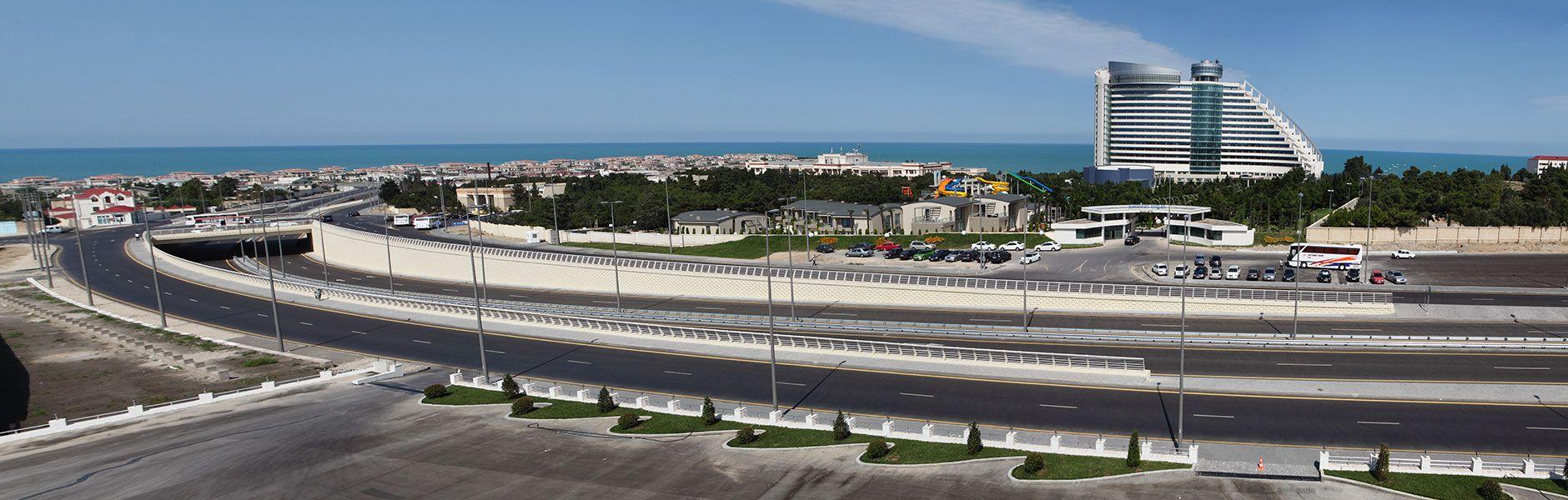 Heydər Əliyev Beynəlxalq Hava Limanı - Bilgəh qəsəbəsi avtomobil yolunun yenidənqurulması